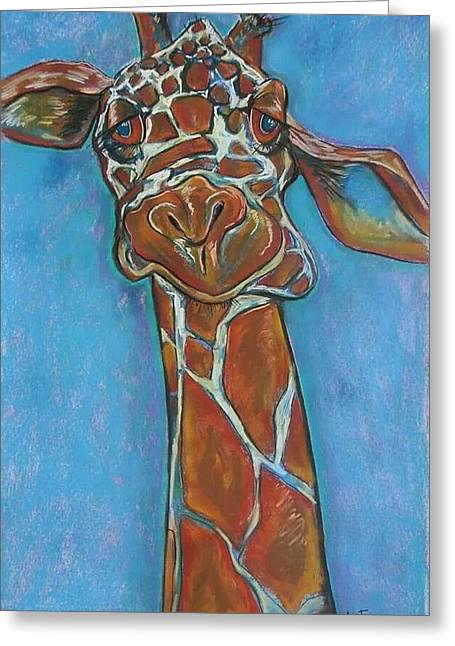Zoo Atlanta Giraffe  Greeting Card