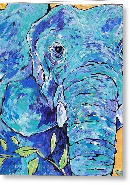 Zoo Elephant  Greeting Card