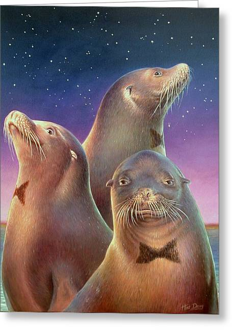 Zoofari Poster The Sea Lion Greeting Card by Hans Droog