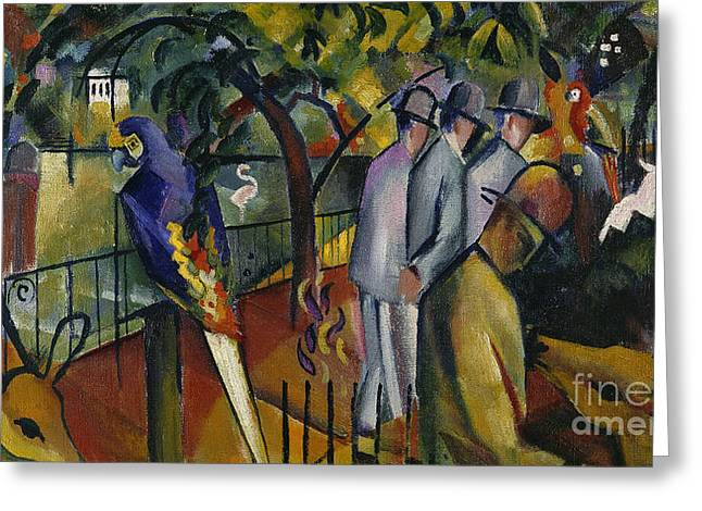 Zoological Garden I Greeting Card by August Macke