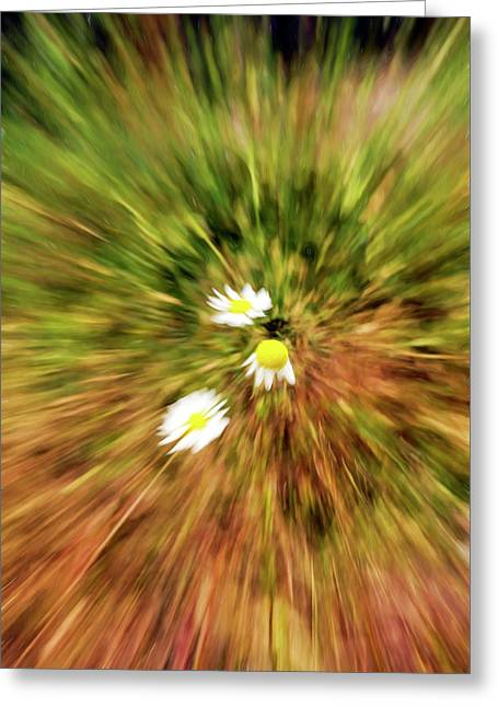 Greeting Card featuring the digital art Zooming In Or Zooming Out by James Steele