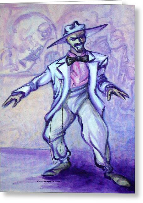 Zoot Suit Greeting Card by Kevin Middleton