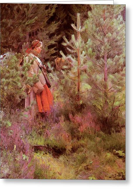 Zorn Anders Vallkulla Greeting Card