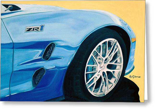 Zr1 Go Faster Greeting Card
