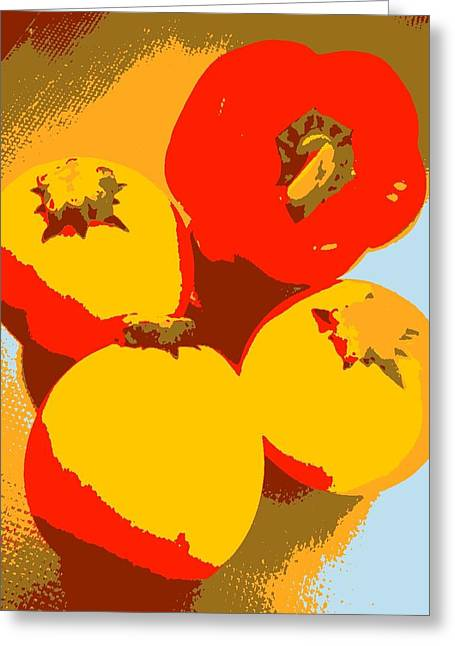 Zucchini And Bell Pepper Greeting Card