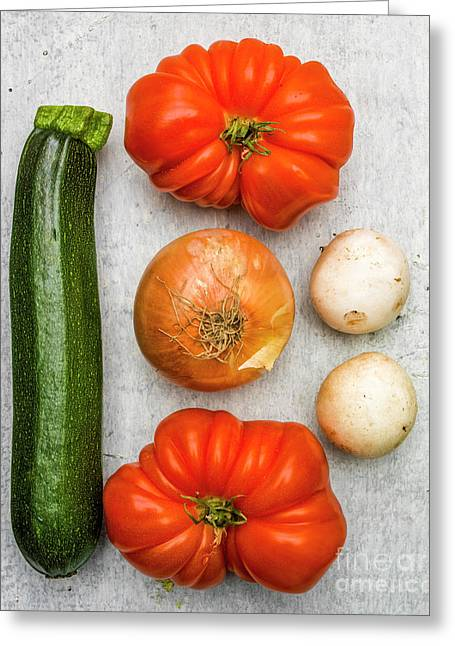 Zucchini And Tomatoes Greeting Card