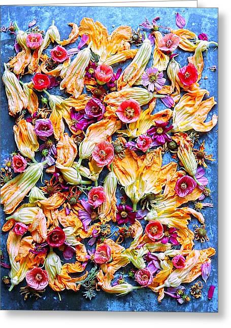 Zucchini Blossoms Season Greeting Card