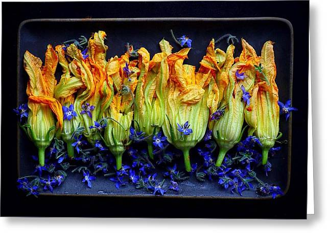 Zucchini Flowers Greeting Card