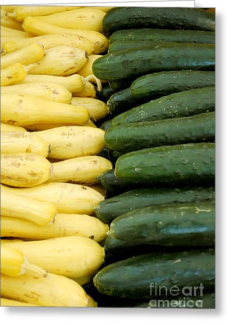 Zucchini On Display At Farmers Market 2 Greeting Card by Micah May