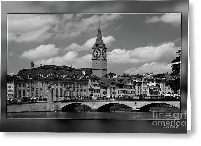 Zuerich Greeting Card by Bruno Santoro