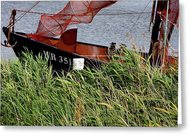Greeting Card featuring the photograph Zuiderzee Boat by KG Thienemann