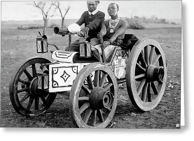 Zulu Motor Cab 1903 Greeting Card