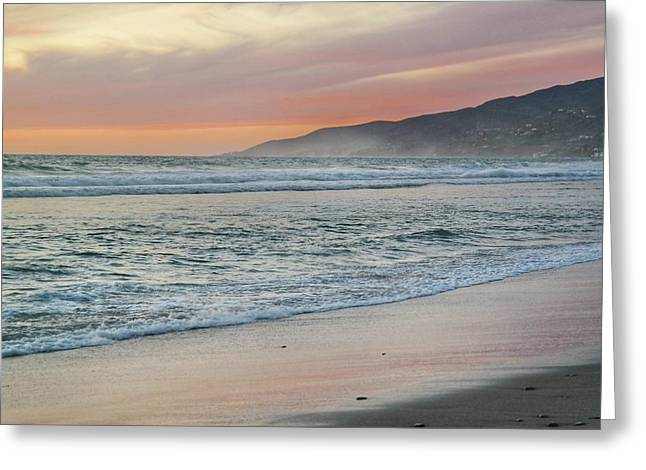 Zuma Beach Sunset Greeting Card by Josh Coleman