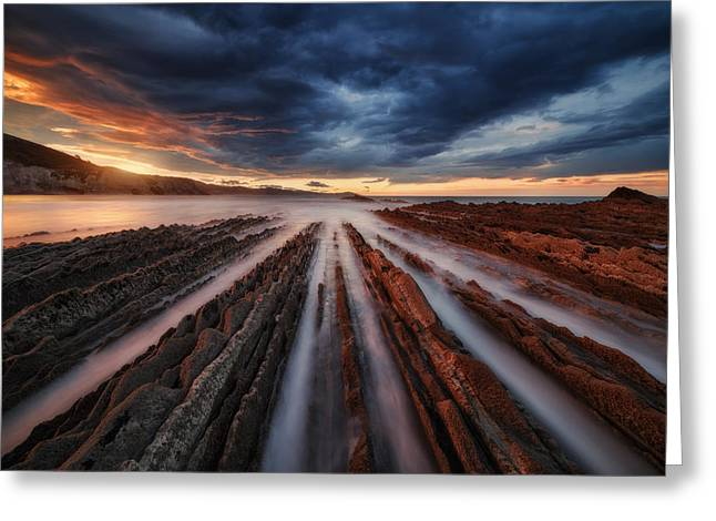 Zumaia Flysch 6 Greeting Card by Juan Pablo De