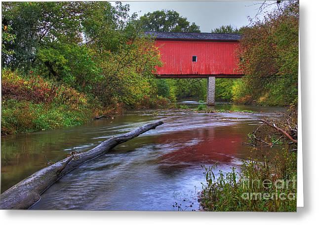 Zumbrota Minnesota Historic Covered Bridge 5 Greeting Card