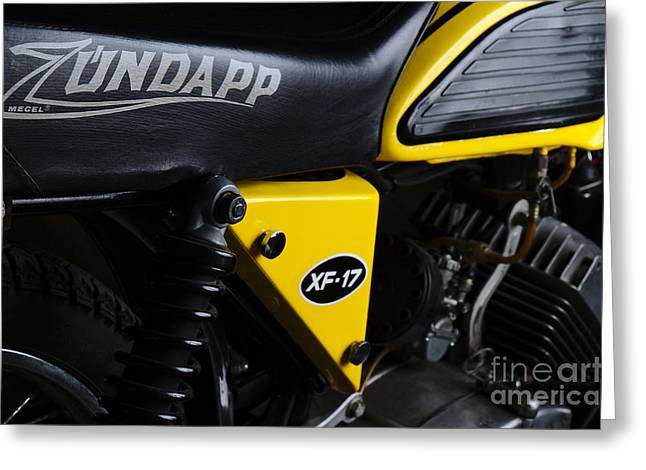 Classic Zundapp Bike Xf-17 Side View Greeting Card