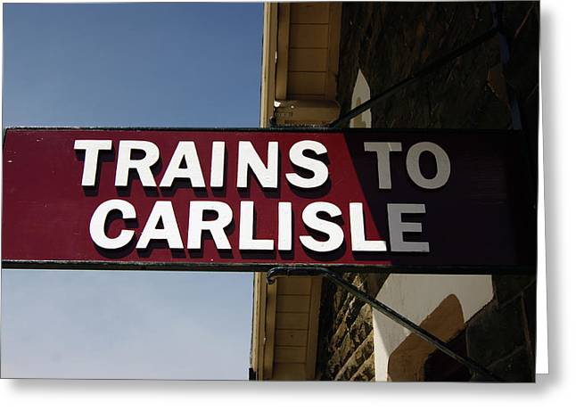 06/06/14 Settle. Station View. Destination Board. Greeting Card