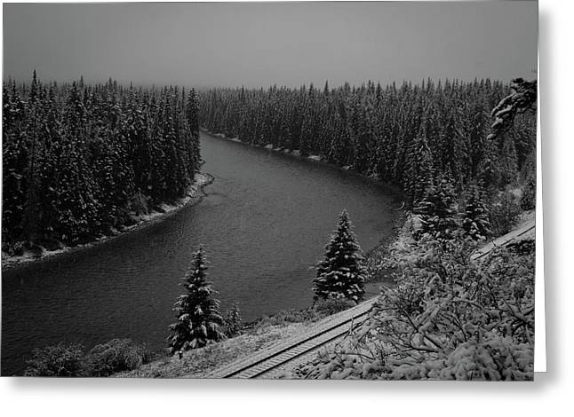 A View From The Side Of The Bow Valley Parkway, Banff National P Greeting Card