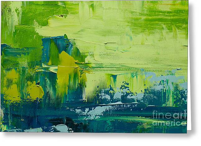 Abstract Art  Background. Oil Painting Greeting Card