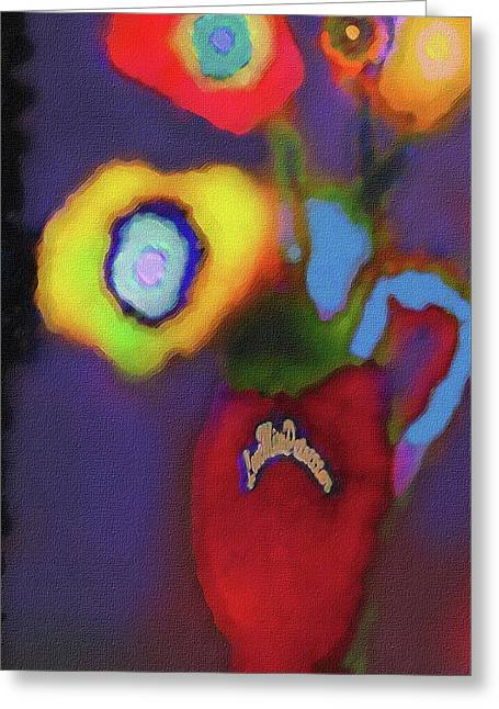Abstract Floral Art 367 Greeting Card