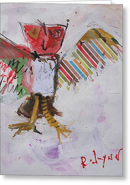 Abstract Owl Art Greeting Card