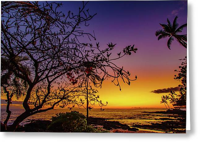 After Sunset Colors Greeting Card