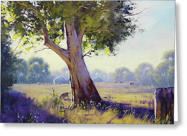 Afternoon Light Grazing Greeting Card