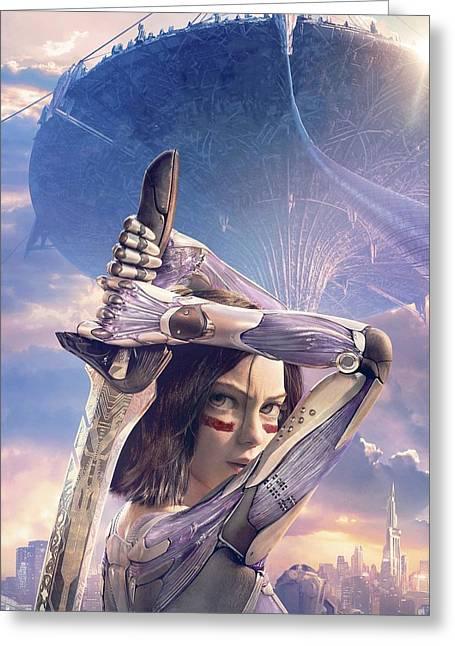 Alita Battle Angel Greeting Card