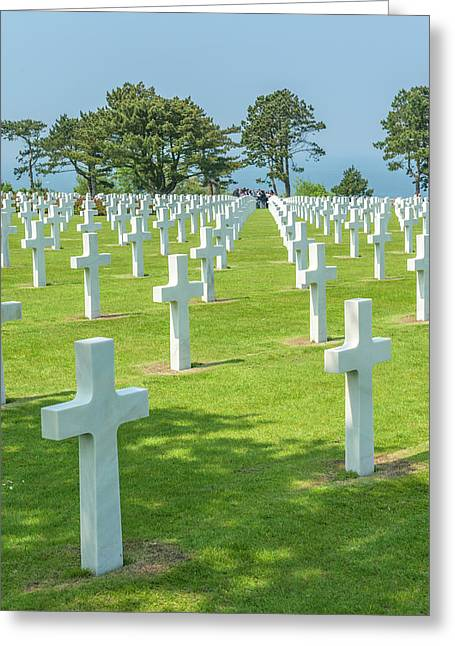 American Cemetery, Colleville Greeting Card by Jim Engelbrecht