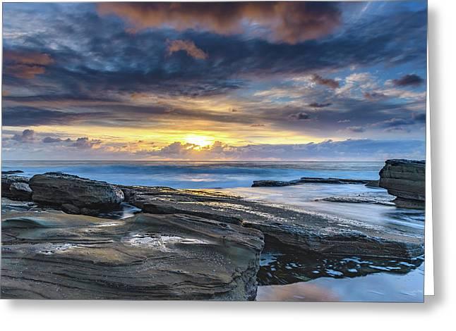 An Atmospheric Coastal Sunrise Greeting Card