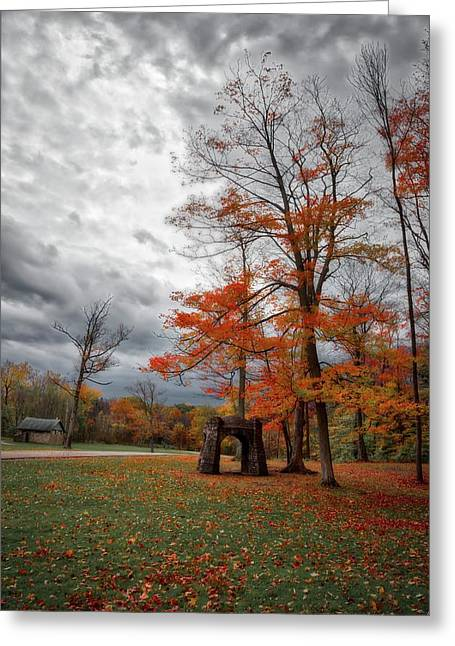 Greeting Card featuring the photograph An Autumn Day At Chestnut Ridge Park by Guy Whiteley
