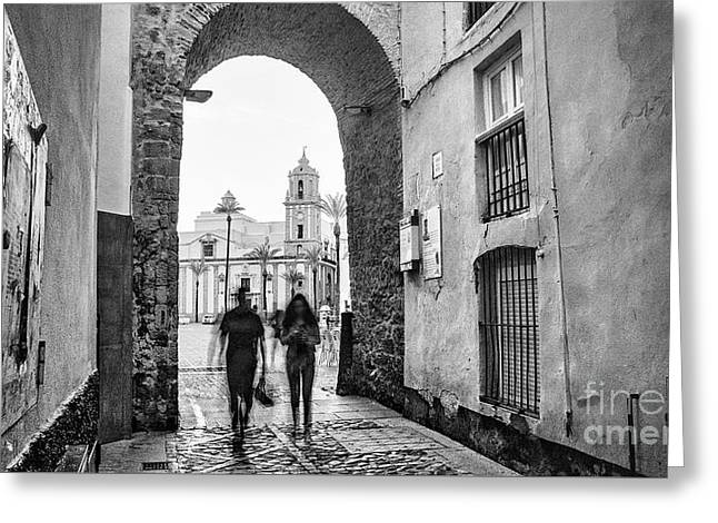 Greeting Card featuring the photograph Arch Of The Rose Cadiz Spain by Pablo Avanzini