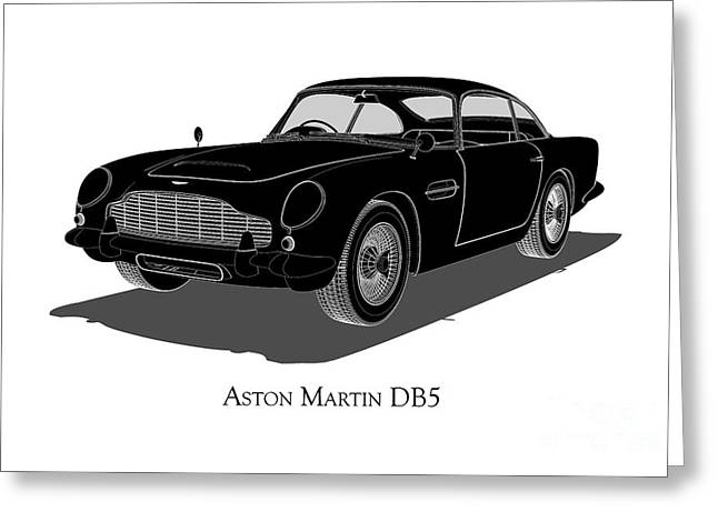 Aston Martin Db5 - Front View Greeting Card