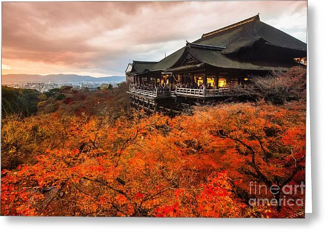 Autumn Color At Kiyomizu-dera Temple In Greeting Card