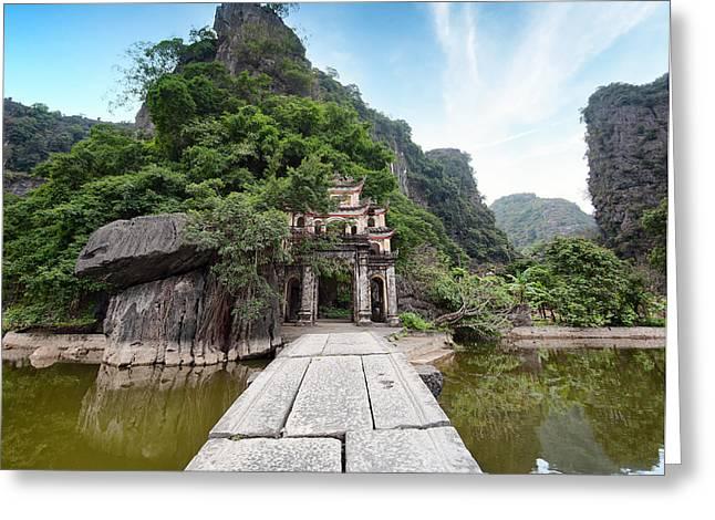 Bich Dong Pagoda In Ninh Binh, Vietnam Greeting Card