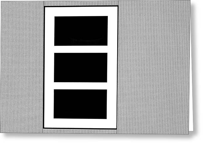 Black Tryptic Greeting Card