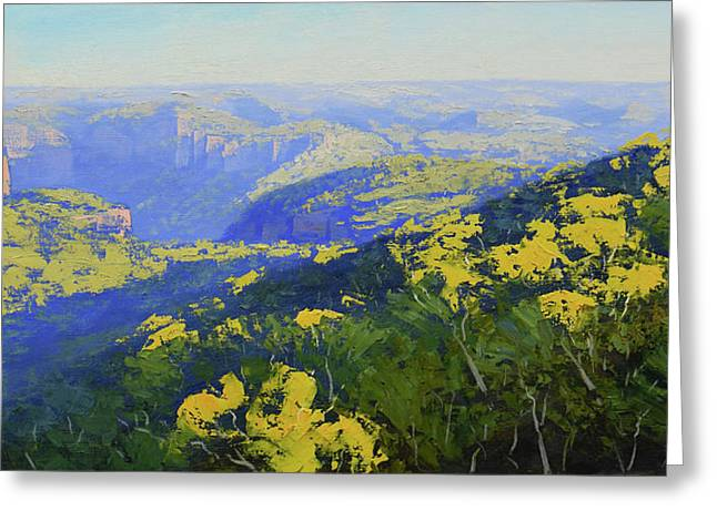 Blue Mountains Australia Greeting Card
