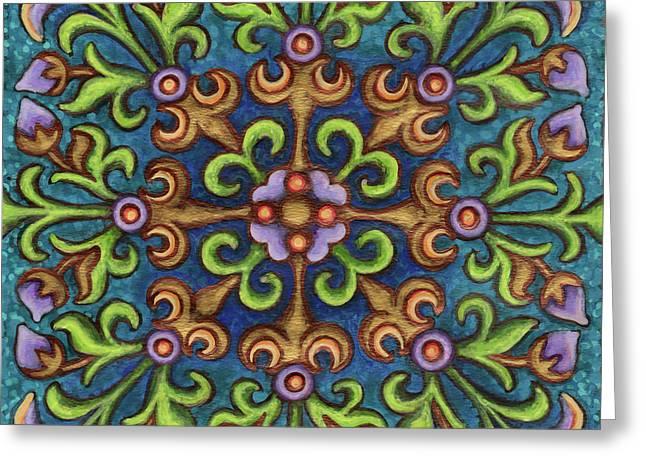Botanical Mandala 8 Greeting Card