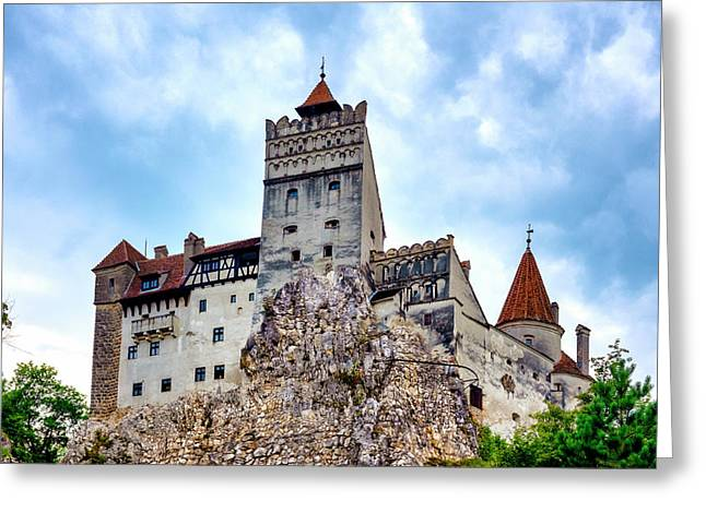 Greeting Card featuring the photograph Bran Castle by Fabrizio Troiani