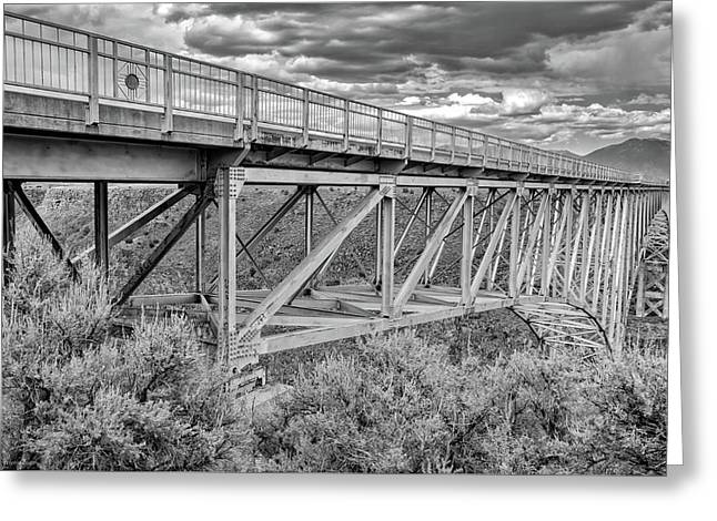 Greeting Card featuring the photograph Bridge Perspective by Britt Runyon