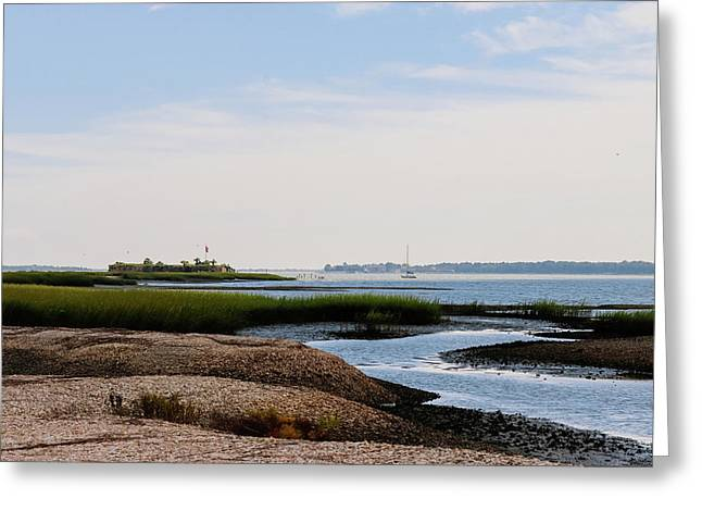 Castle Pinckney, Charleston Harbor Greeting Card