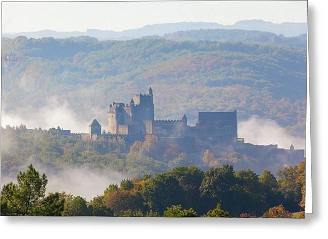 Chateau Beynac In The Mist Greeting Card