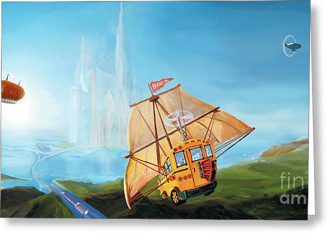 City On The Sea Greeting Card