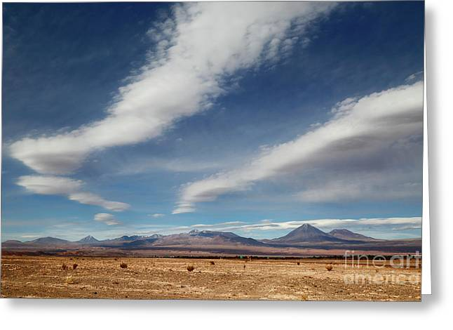 Clouds Over The Atacama Desert Chile Greeting Card
