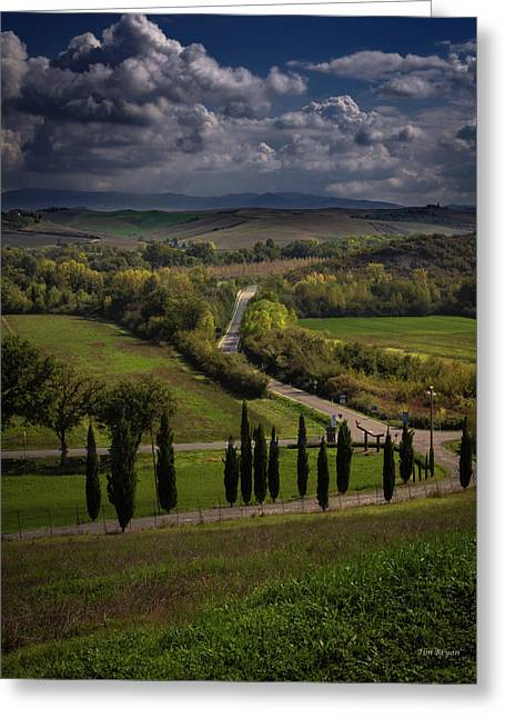 Greeting Card featuring the photograph Clouds Over Tuscany by Tim Bryan