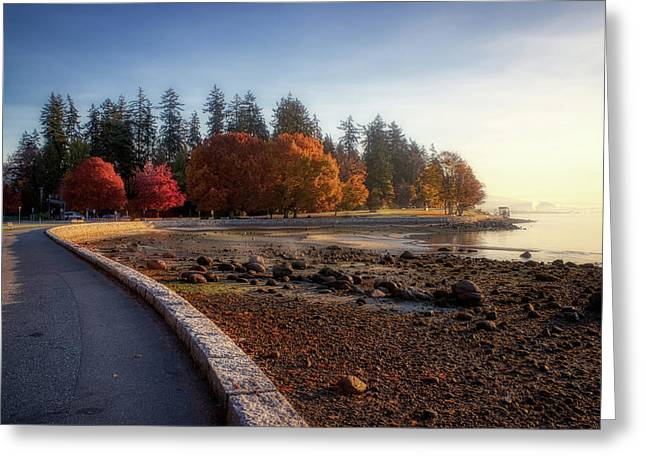 Colorful Autumn Foliage At Stanley Park Greeting Card