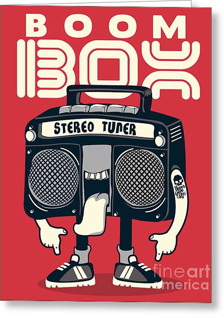 Cool Radio Character Vector Design For Greeting Card