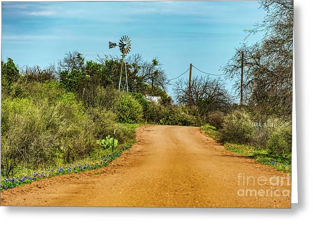 Country Road Greeting Card by Elijah Knight
