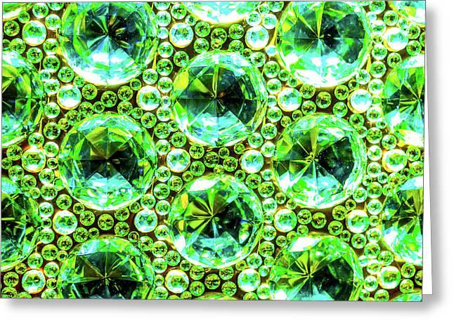 Cut Glass Beads 2 Greeting Card