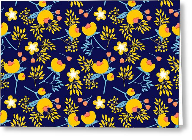 Cute Vector Seamless Pattern With Greeting Card